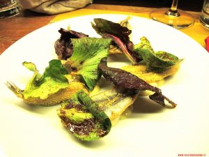 milano, erbelot, Alici fritte, maionese di agrumi, Pastinaca e cicorino al pan d