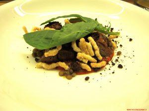 milano, rebelot, Omaggio ai monti sibillini : Agnello, salsa ammatriciana, lenticchie di castelluccio