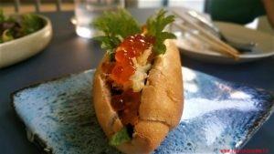 mini hot-dog, Casa Ramen Super, Milano