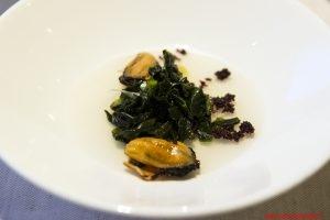 Cozze, alghe, olive e anice, Trussardi alla Scala, Milano