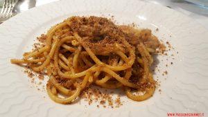 Spaghetti con le sarde. Osteria Siciliana. Roma