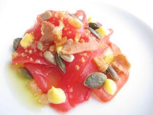 Carpaccio di pomodoro, Balzi Rossi, Ventimiglia