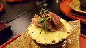 Ananas e Beef. Kichisen. Kyoto