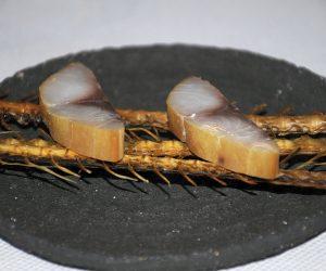 Triglia affumicata, Le Marine, Chef Alexandre Couillon, Noirmoutier-en-l'Île, Francia