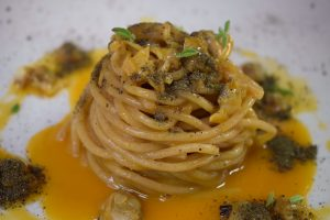 alseno, osteria della peppina, spaghetti con caciucco