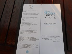 Menu Bar, Lux Lucis, Forte dei Marmi, Cassanelli