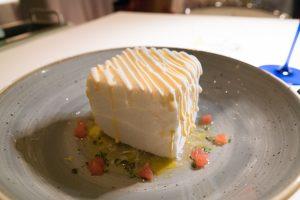 Gelato al cioccolato bianco, Madonnina del Pescatore, Senigallia, Moreno Cedroni