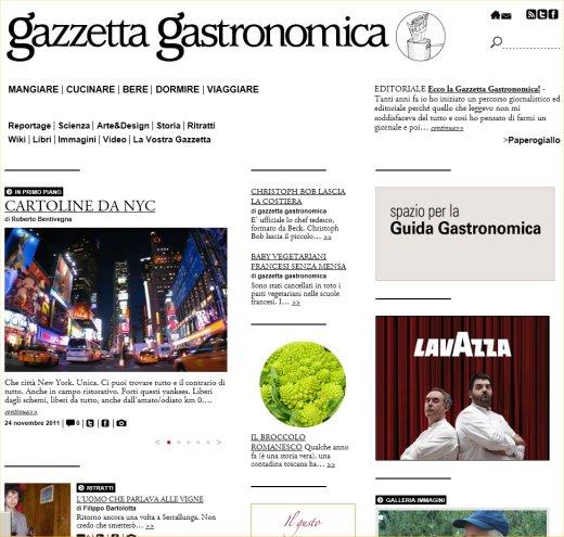 La Gazzetta Gastronomica e Passione Gourmet … una nuova ed avvincente sfida