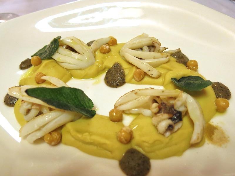 Seppie grigliate e passata di ceci, Brilli Bistrot, Chef Ota e Migliosi, Assisi, Perugia