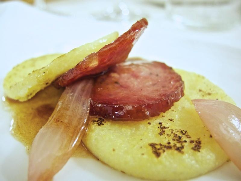 salame scottato, Trattoria Al Giardinetto, Chef Zoppolatti, Cormòns