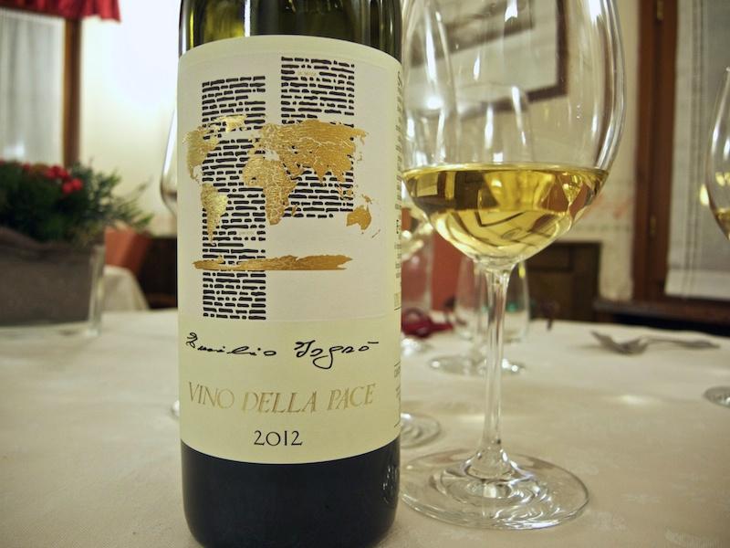 vino della pace, Trattoria Al Giardinetto, Chef Zoppolatti, Cormòns