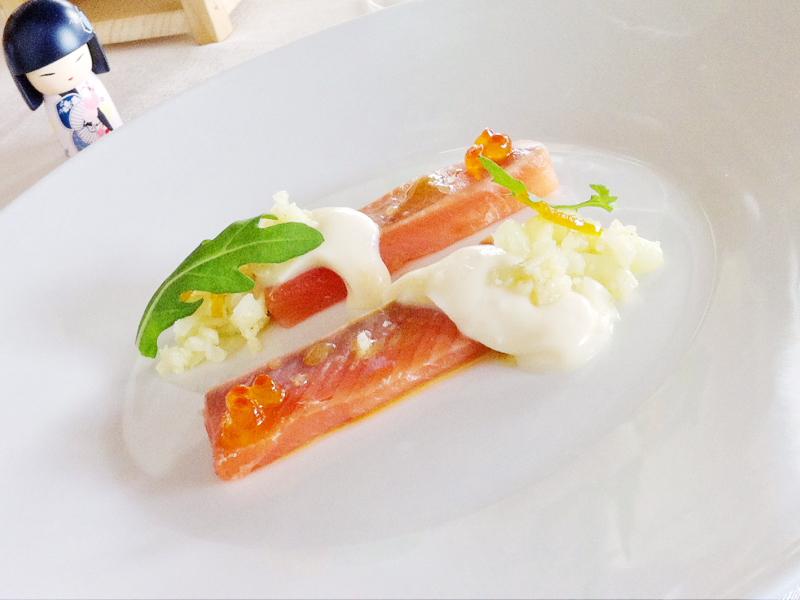 Trota marinata, Osteria Arbustico, Chef Cristian Torsiello, Valva, Salerno