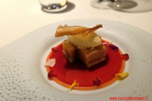 mandarin oriental, milano, ristorante seta, dessert alla mela e cognac