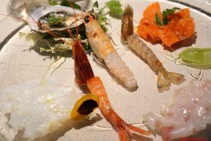 Il crudo di pesce, Cucina Bacilieri, Ferrara