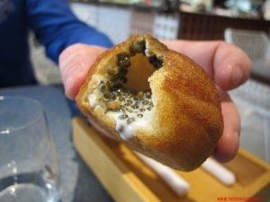 barcellona, disfrutar, dettaglio panino