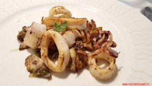 Calamaretti con carciofi. Osteria Siciliana. Roma