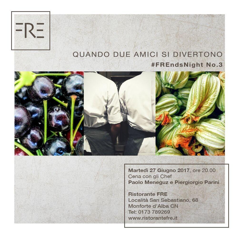 FREnds Night N°3 – 27 Giugno: Parini & Meneguz a Monforte d'Alba, per una nuova 'Cena tra Amici'