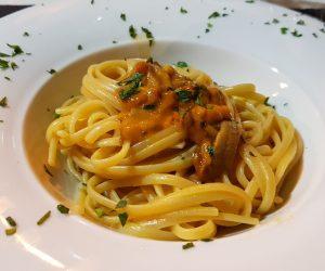 linguine ai ricci, La Barca di Mario, Chef Alessandra Moschettini, Lecce