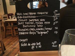 La lavagnetta, taberna do mercado, nuno mendes, londra