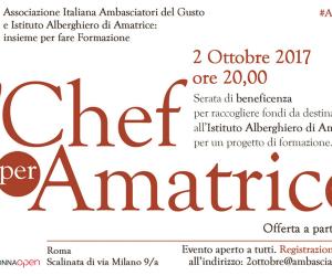 2 Ottobre – Sette Grandi Chef per Amatrice @ Open Colonna di Roma