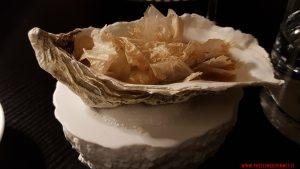 Crema di fave, cipolla, ostrica, Angelo Sabatelli, Puglia