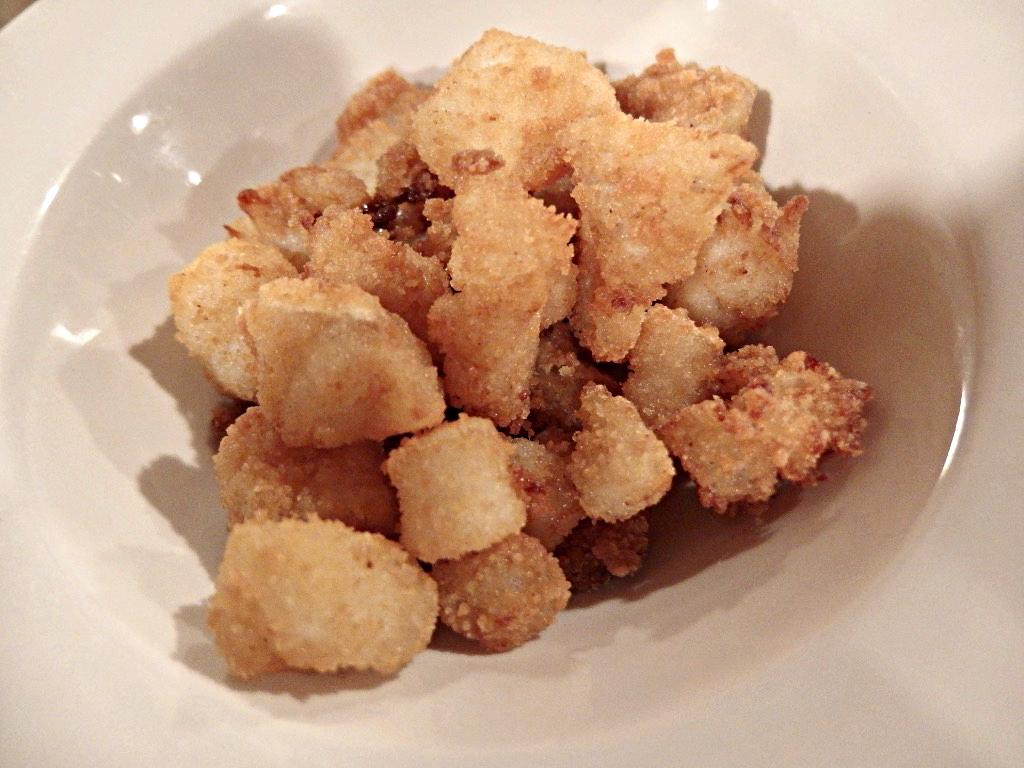 Osteria Bonelli, Pepite di baccalà fritto, con salsa allo yogurt