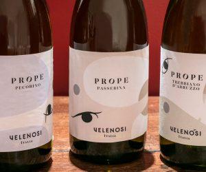Prope, la nuova linea di vini abruzzesi di Velenosi