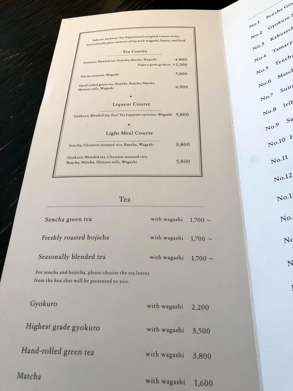 Tokyo, Passione Gourmet, Sakurai Tea