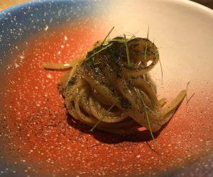 Fettuccine, primo piatto, Aqua Crua, Giuliano Baldessari, Veneto, Michelin