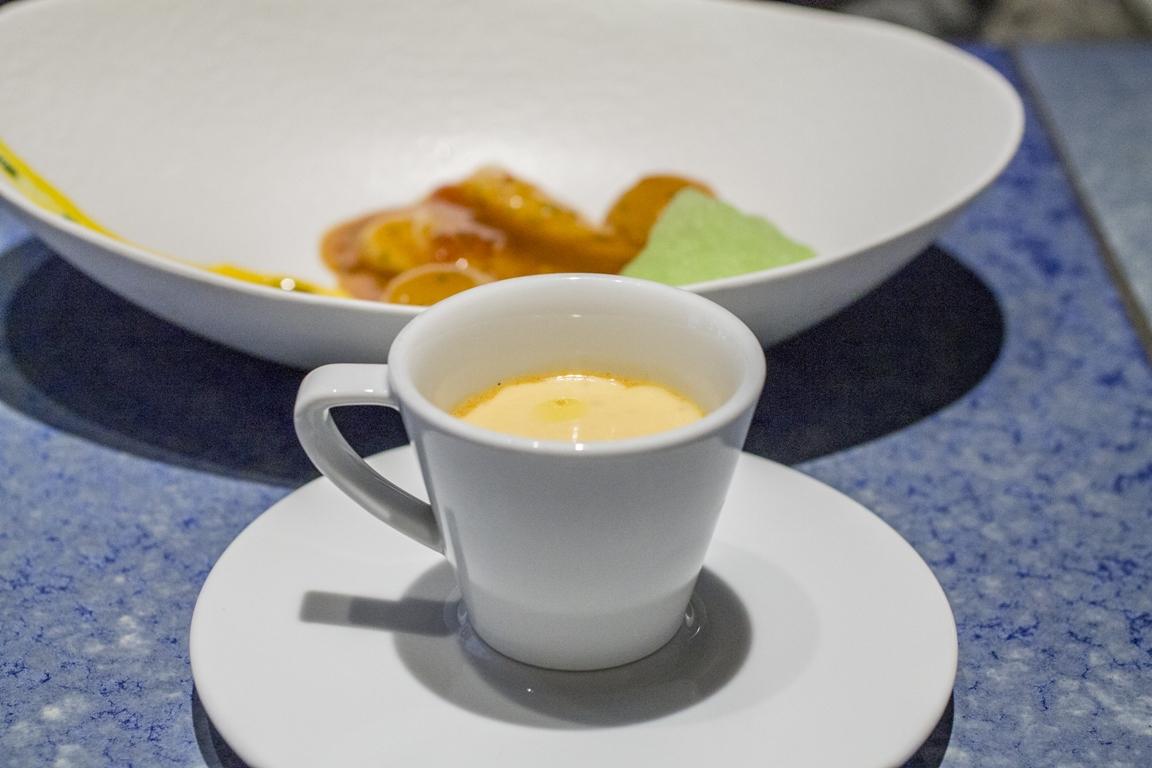cappuccino, aragosta, Disfrutar, due stelle michelin, Barcellona, Spagna