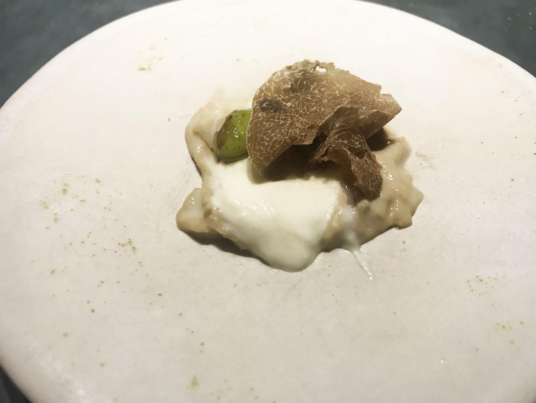 Yuba, edamame e tartufo bianco, Enigma, Barcellona, Albert Adrià, Michelin