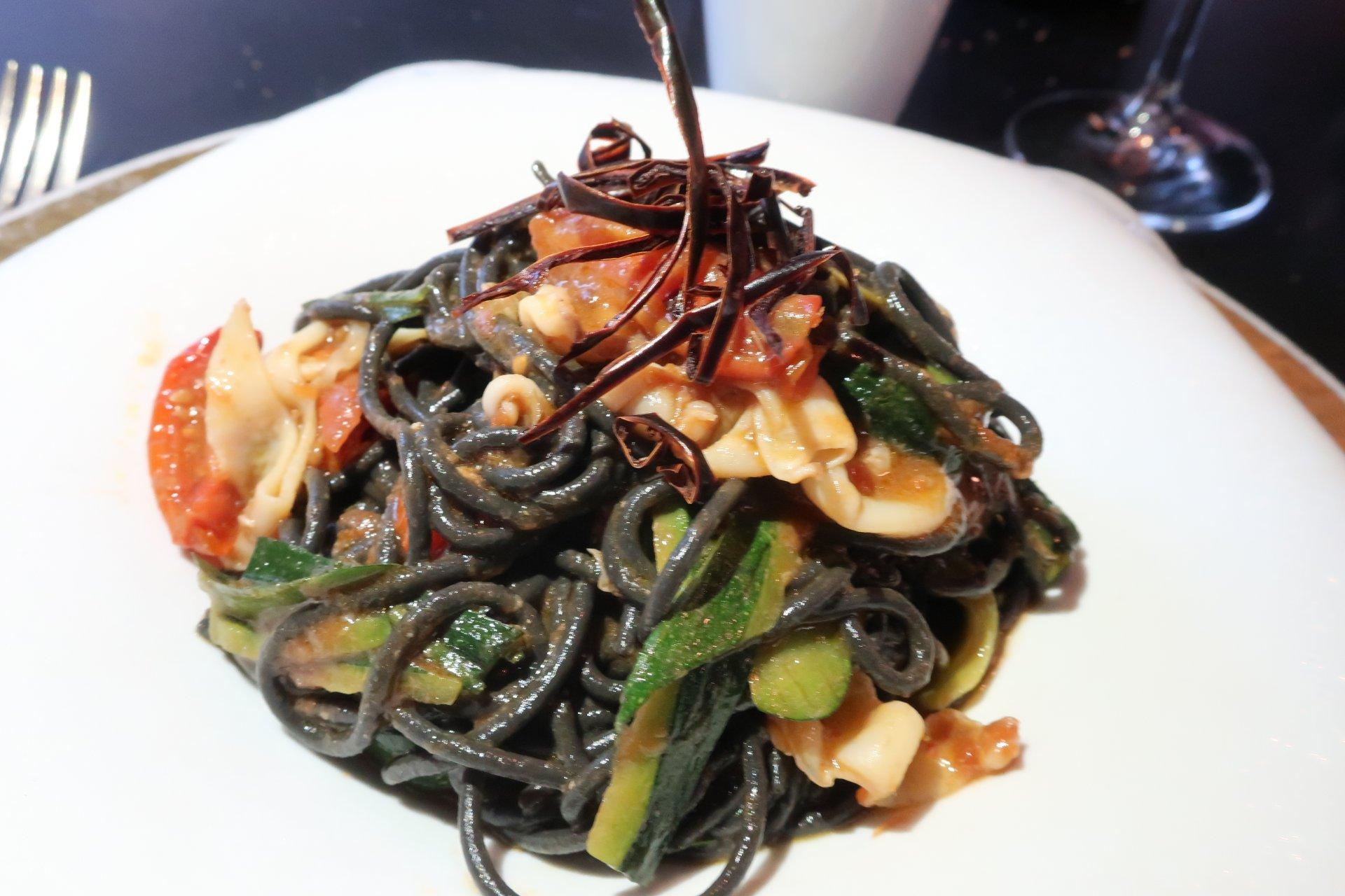Spaghetti neri, Osteria la Fontanina.