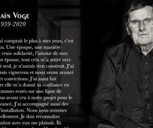 Si è spento Alain Voge